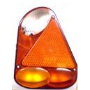 zadní světlo na přívěsný vozík trojúhelník výška 220mm s couvačkou