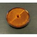 Oranžová plastová odrazka s dírou Q 60mm