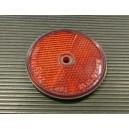 Červená plastová odrazka s dírou Q 60mm