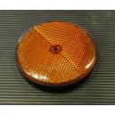 Oranžová plastová odrazka s dírou Q 80mm