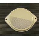 Bílá  plastová odrazka s ušima 80mm